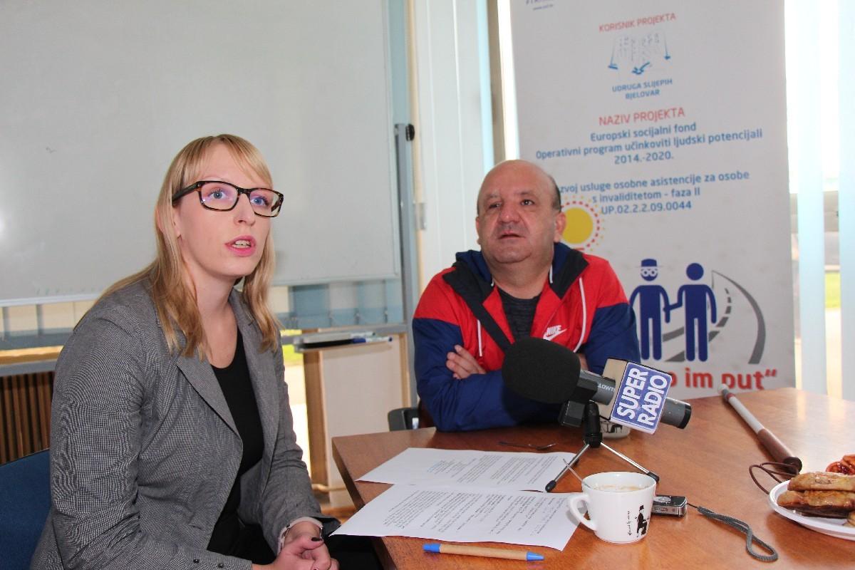 Udruga slijepih Bjelovar predstavila EU projekt 'Osvijetlimo im put'